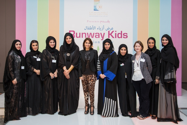 a group picture of SLC's team along with Khawla Al Serkal and Reem Binkaram and Bloomingdale's - Dubai representative