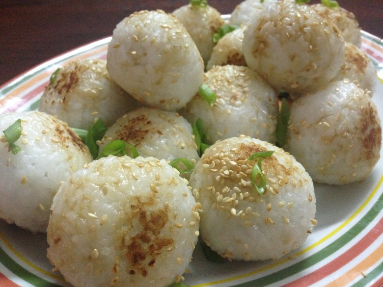 rice balls with tuna